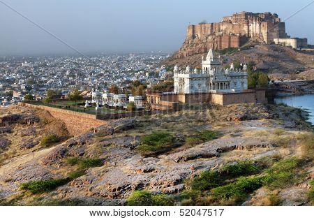 Jaswant Thada mausoleum in Jodhpur, Rajasthan, India
