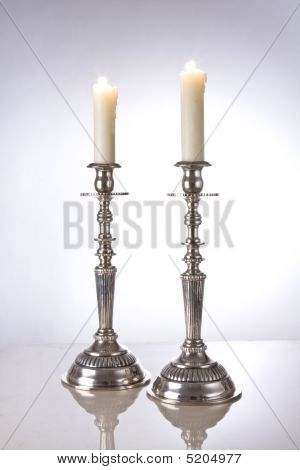 Jewish Shabbat Candles (frontlight)
