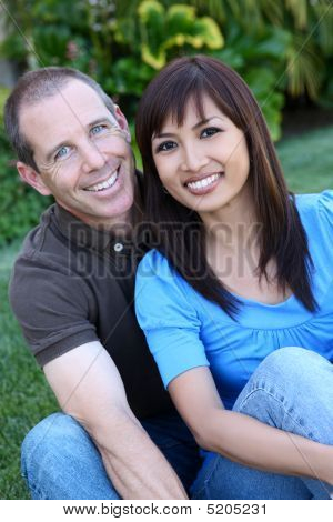 Happy Diverse Couple
