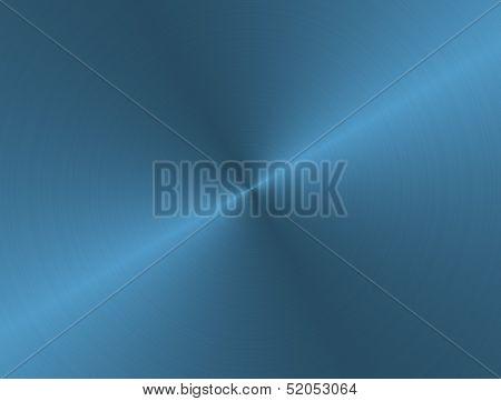 Brushed Aluminum Blue Metal