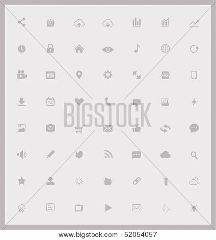 Set of web and mobile icons