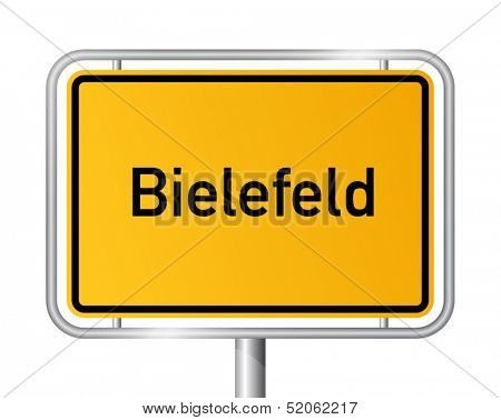 City limit sign Bielefeld - signage - Germany