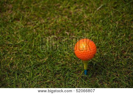 an orange ball