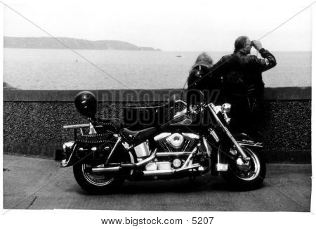 Bikers By The Sea