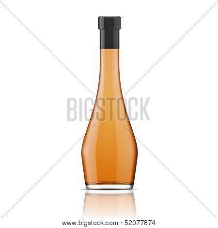 Glass brandy (bourbon, whiskey, cognac) bottle.