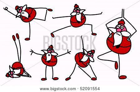 Funny Yoga Santa