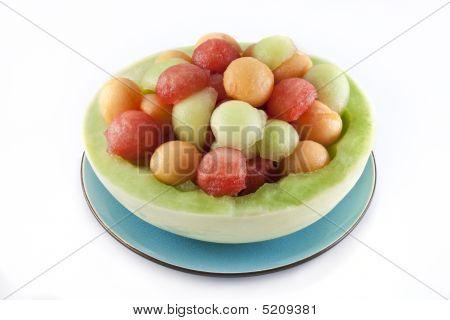 Melon Balls In Honeydew Bowl