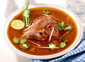Delicious, hot and spicy tender beef nihari, A favourite food of Pakistani and Indian Peoples poster