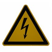sign: danger high voltage poster