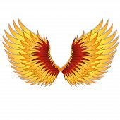 Straighten wings of the phoenix. Abstact vector illustration. poster