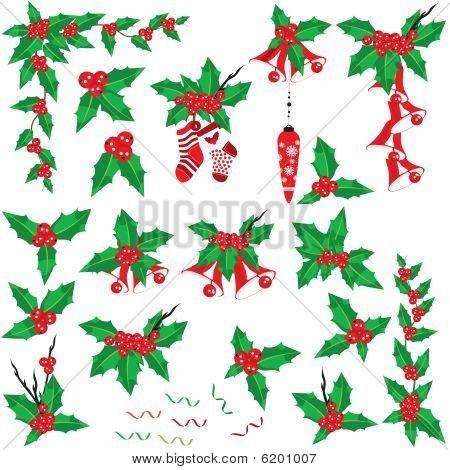 Christmas Holly Set