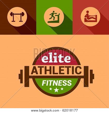 flat elite fitness design elements