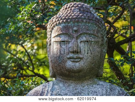 Stone Buddha statue at Ryoan-ji Temple in Kyoto