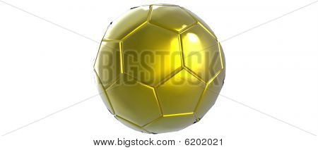 Gold Soccer ball / Football