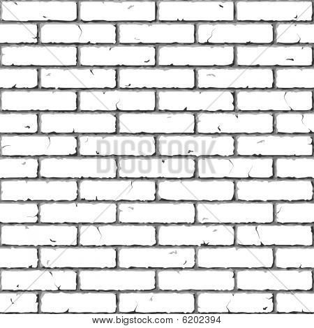 Brick Wall. Seamless. Vector illustration.