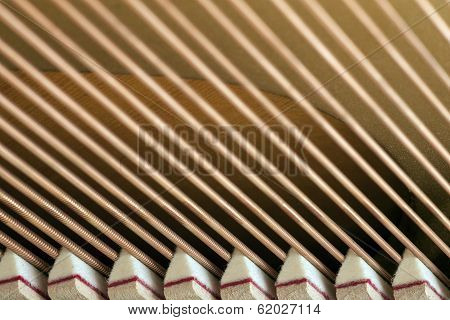 Snares Of A Piano In Closeup