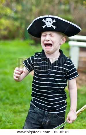 Young Pirate Crying