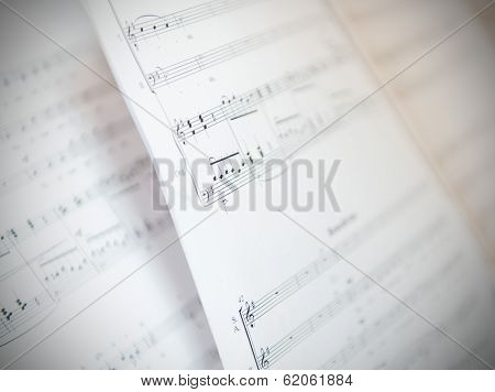Written Music Notation Sheet