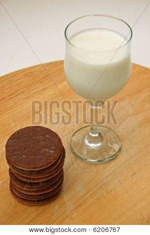 milk and cookies.