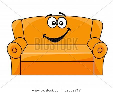 Cartoon upholstered couch