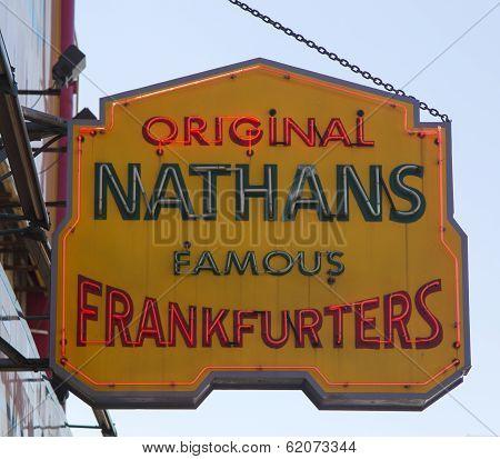 The Nathan s original restaurant sign