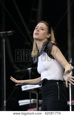 BUDAPEST, HUNGARY - APR 16: Irish electronica singer Roisin Murphy perform in concert at the annual Sziget music festival in Budapest, Hungary, on Saturday, August 16, 2008.