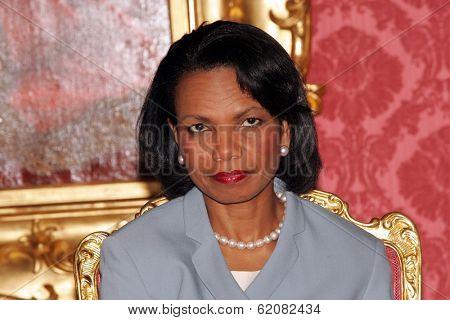BUDAPEST, HUNGARY - JUNE 22: United States Secretary of State Condoleezza Rice in Budapest, Hungary, on Thursday, June 22, 2006.