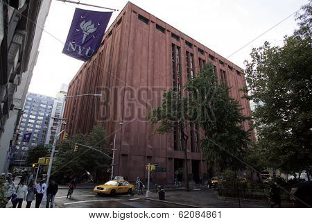 NEW YORK CITY - OCTOBER 31: The Bobst Library on the campus of New York University  (NYU) in New York City on Friday, October 31, 2008.
