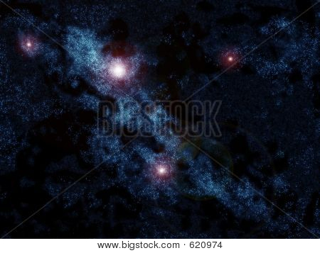 ilustration mede in photoshop, present space galaxy poster