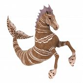 3D digital render of Hippocampus (Mermaid's Horse) isolated on white background poster