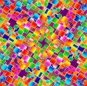 Seamless tile pattern made out of colourful squares. poster