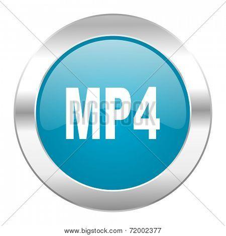 mp4 internet blue icon