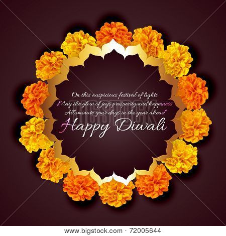 Vector beautiful background of diwali