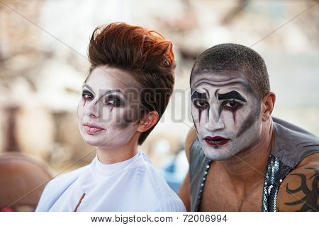 Attractive Cirque Performers