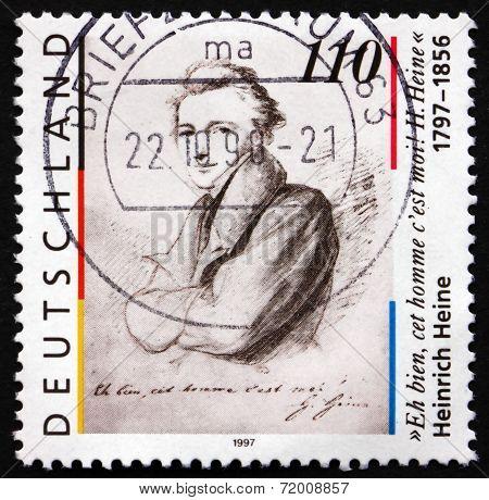 Postage Stamp Germany 1997 Heinrich Heine, Poet