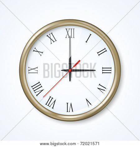 Wall Clock On The Neutral Background