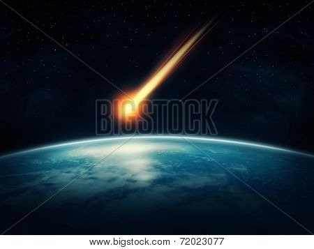 Meteor flying to the earth (Nasa imagery)