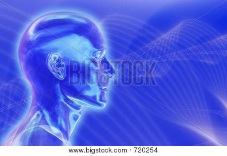 blau Gehirnwellen Hintergrund