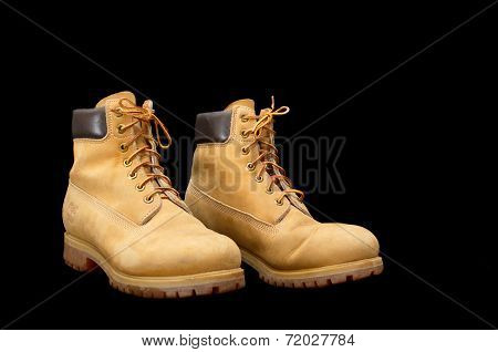 Authentic Pair Of 8 Inch Timberland Yellow Work Boots