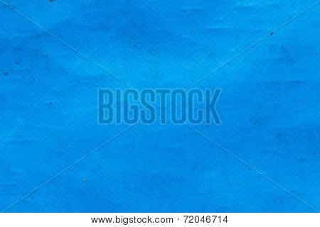 Old Blue Plastic Sunblind Background With Dust