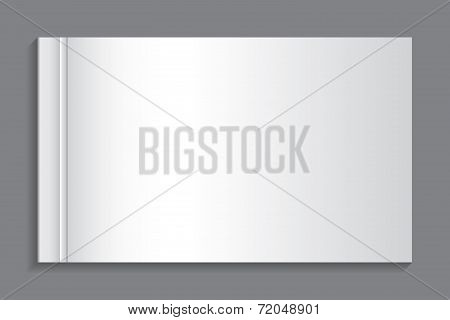 Illustration Of A Book With A Blank Front Cover