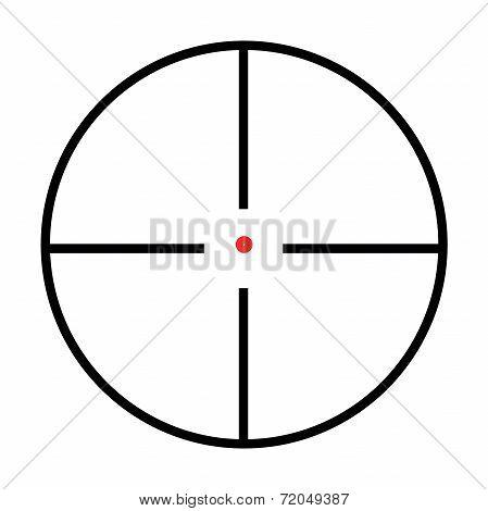 Isolated Crosshairs On White Background