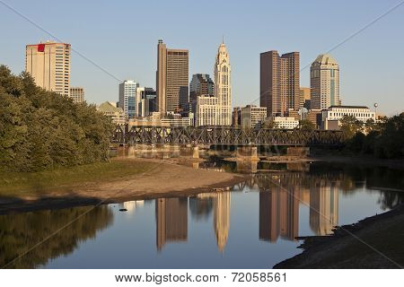 Columbus, Ohio along the Scioto River during the