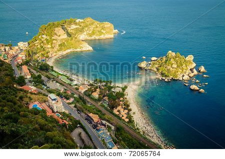 Top View Of The Beach Isola Bella