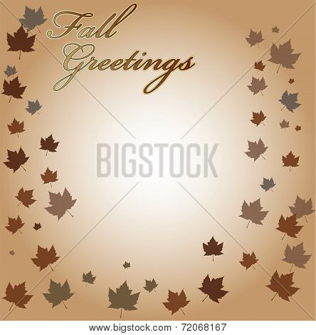 Fall Greetings Vector Background
