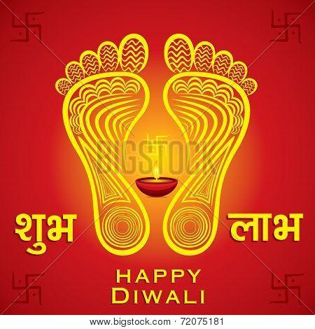 happy diwali or navratri festival greeting card background vector