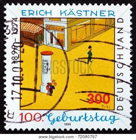 Postage Stamp Germany 1999 Erich Kastner, Writer