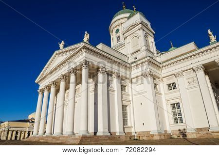 Helsinki Cathedral or St Nicholas - the biggest landmark of the city built in 1852, Finland.