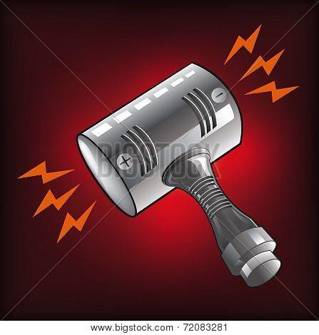 power hammer,vector illustration
