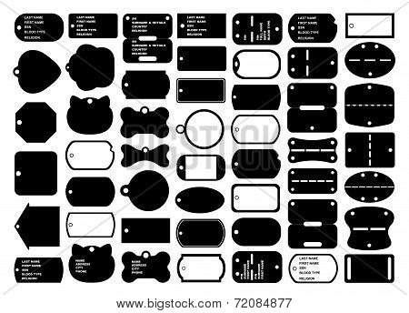 Dog tags set